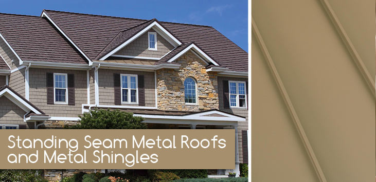 standing seam and metal shingles