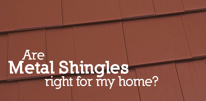 red metal shingle