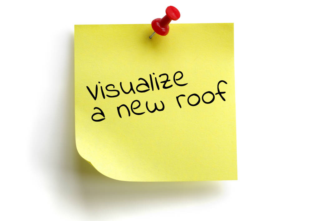 visualize a new roof post it note