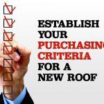 establishing a purchase criteria