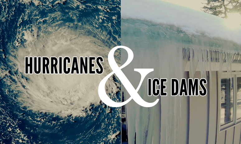 hurricanes and ice-dams