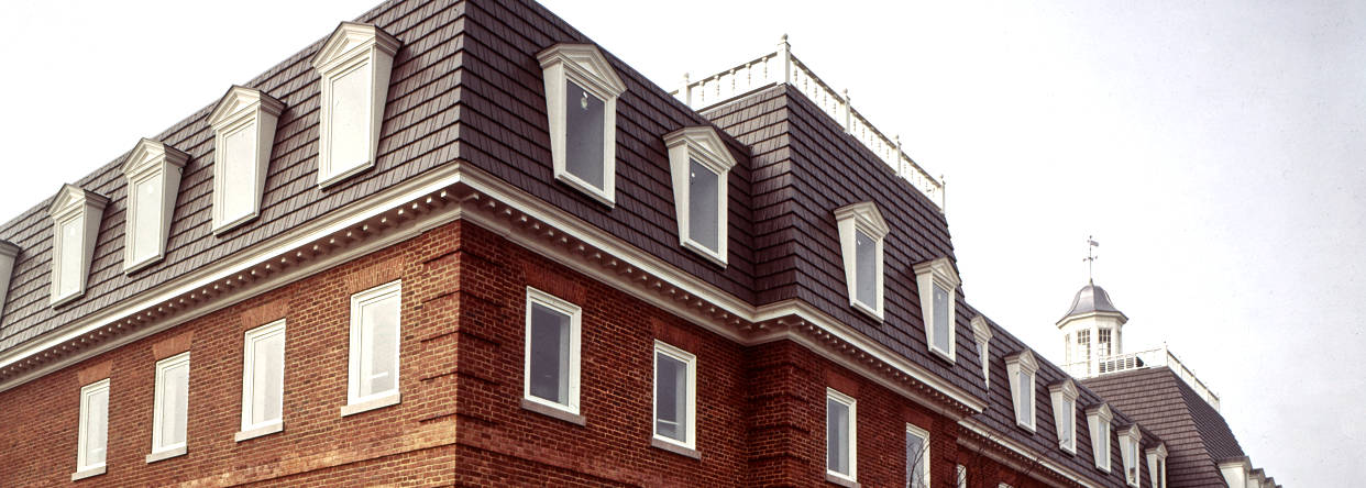 mansard roof with metal shingles
